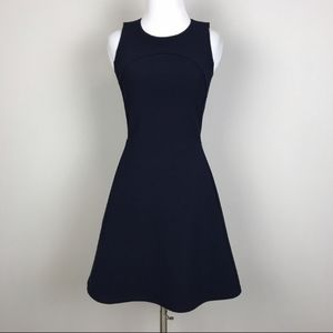 Madewell Adore Dress Navy Blue Fit and Flare S